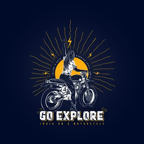 INLINE4 Go Explore Cotton Motorcycle T shirt 2