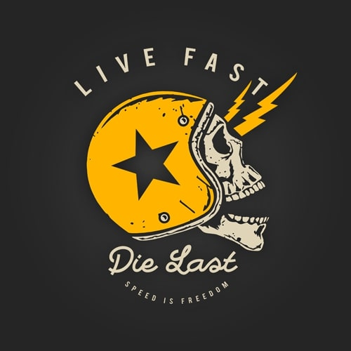 INLINE4 Live Fast Cotton Motorcycle T shirt 2