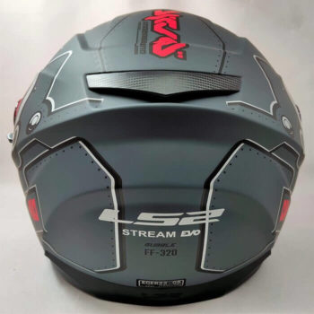 LS2 FF320 Stream Evo Bubble Matt Black Red Full Face Helmet 1