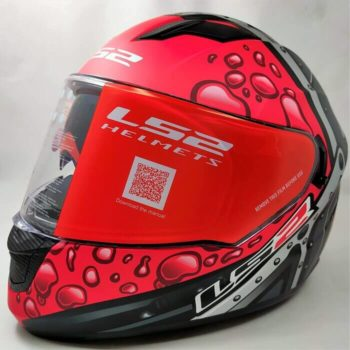 LS2 FF320 Stream Evo Bubble Matt Black Red Full Face Helmet