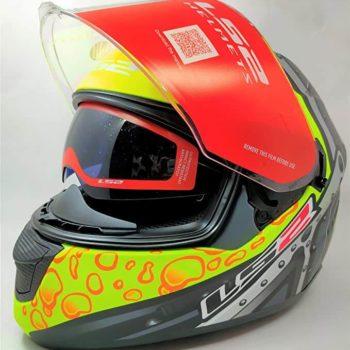 LS2 FF320 Stream Evo Bubble Matt Black Yellow Full Face Helmet