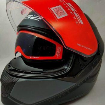 LS2 FF320 Stream Evo Path Matt Black Grey Full Face Helmet