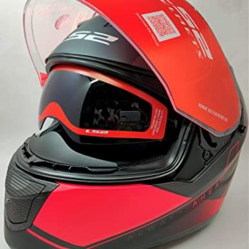 LS2 FF320 Stream Evo Path Matt Black Red Full Face Helmet