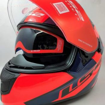 LS2 FF320 Stream Evo Rex Gloss Black Red Full Face Helmet