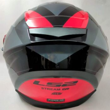 LS2 FF320 Stream Evo Stash Gloss Black Red Full Face Helmet 1