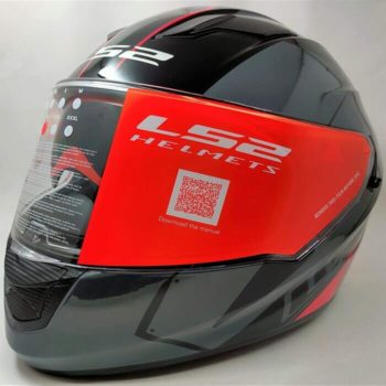 LS2 FF320 Stream Evo Stash Gloss Black Red Full Face Helmet