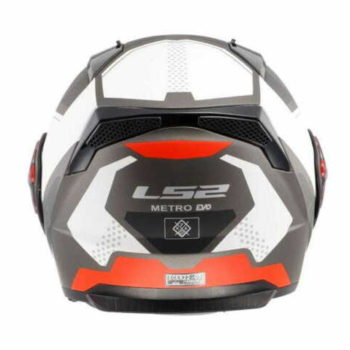 LS2 FF324 Metro Complex Matt Black White Red With Peak Flip Up Helmet 1