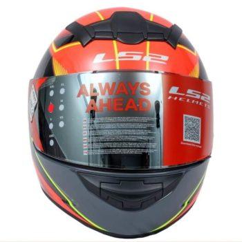 LS2 FF352 Kascal Black Orange Gloss Full Face Helmet 2