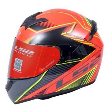 LS2 FF352 Kascal Black Orange1 Gloss Full Face Helmet