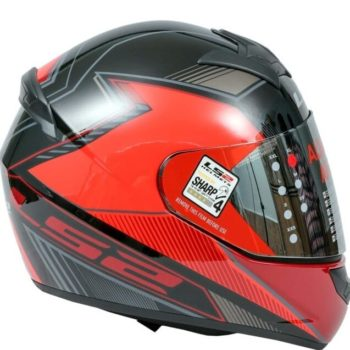 LS2 FF352 Kascal Gloss Black Red Full Face Helmet 2