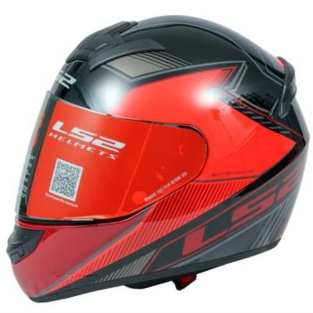 LS2 FF352 Kascal Gloss Black Red Full Face Helmet
