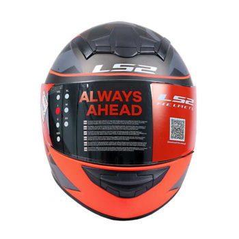 LS2 FF352 Recruit Gloss Black Red Full Face Helmet
