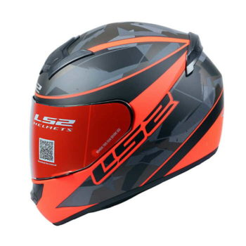 LS2 FF352 Recruit Gloss Black Red Full Face Helmet 4