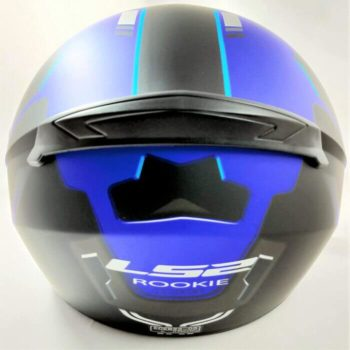 LS2 FF352 Rookie Iron Face Matt Black Blue Full Face Helmet 1