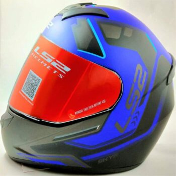 LS2 FF352 Rookie Iron Face Matt Black Blue Full Face Helmet