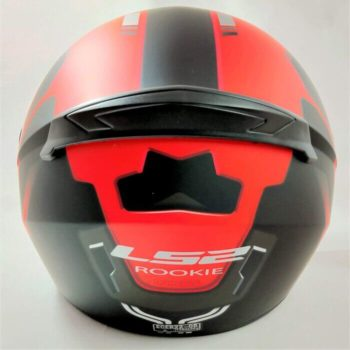 LS2 FF352 Rookie Iron Face Matt Black Red Full Face Helmet 1