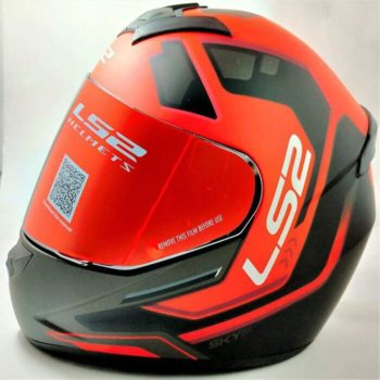 LS2 FF352 Rookie Iron Face Matt Black Red Full Face Helmet
