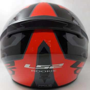 LS2 FF352 Rookie Mein Gloss Black Red Full Face Helmet 1