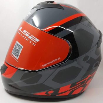 LS2 FF352 Rookie Mein Gloss Black Red Full Face Helmet