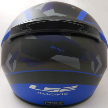 LS2 FF352 Rookie Mein Matt Black Blue Full Face Helmet 1