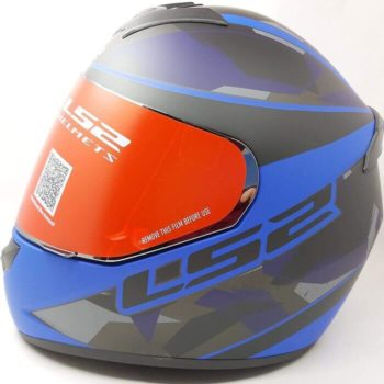 LS2 FF352 Rookie Mein Matt Black Blue Full Face Helmet