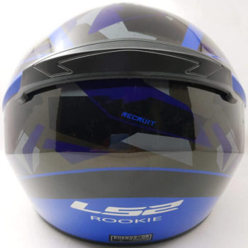 LS2 FF352 Rookie Recruit Gloss Black Blue Full Face Helmet 1