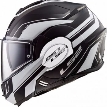 LS2 FF399 Valiant Lumen Matt Black White Full Face Helmet 2