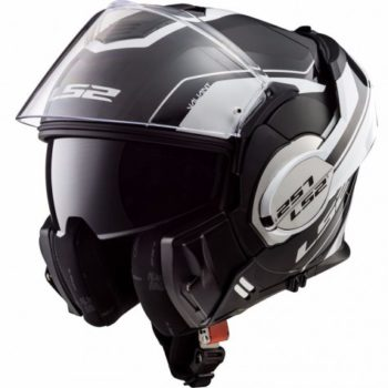 LS2 FF399 Valiant Lumen Matt Black White Full Face Helmet