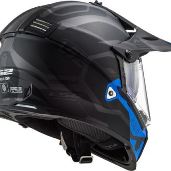 LS2 MX436 Cobra Matt Black Grey Blue Full Face Helmet 3