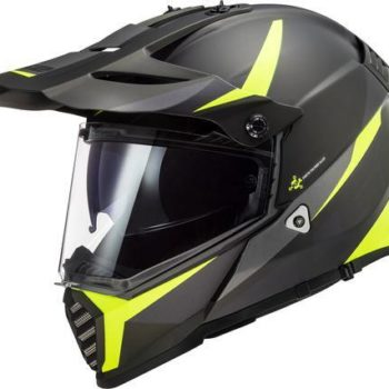 LS2 MX436 Pioneer Evo Router Matt Black Yellow Full Face Helmet 1