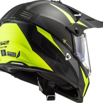 LS2 MX436 Pioneer Evo Router Matt Black Yellow Full Face Helmet 2