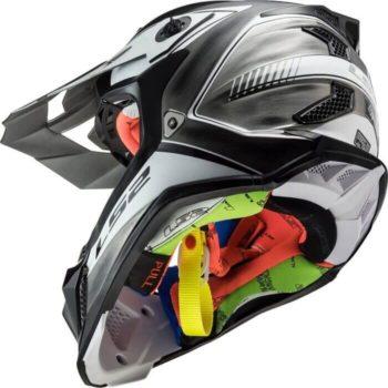 LS2 MX470 Subverter Power Jeans Black White Motocross Helmet 1