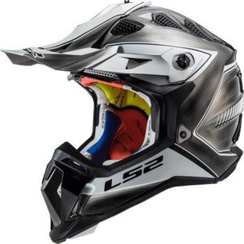 LS2 MX470 Subverter Power Jeans Black White Motocross Helmet