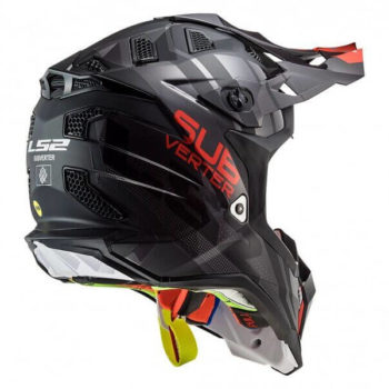 LS2 MX470 Subverter Troop Matt Gloss Black Red Motocross Helmet 1