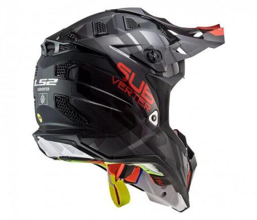 LS2 MX470 Subverter Troop Matt Gloss Black Red Motocross Helmet 1
