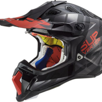 LS2 MX470 Subverter Troop Matt Gloss Black Red Motocross Helmet