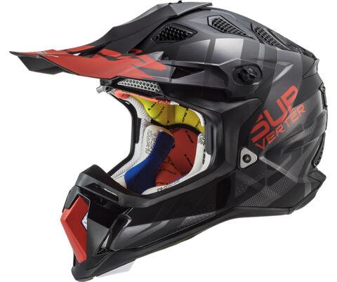 LS2 MX470 Subverter Troop Matt Gloss Black Red Motocross Helmet