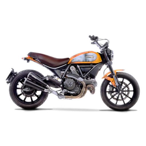 LeoVince GP Duals SS Slip On Exhaust for Ducati Scrambler 800 Classic Cafe Racer Full Throttle Icon
