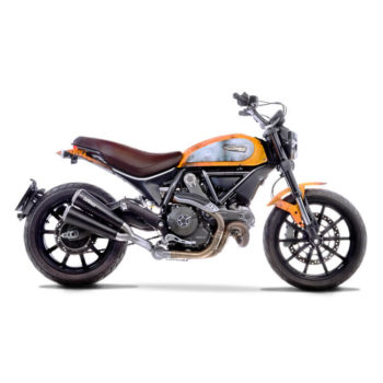 LeoVince GP Duals dbA SS Slip On Exhaust for Ducati Scrambler 800 Classic Cafe Racer Full Throttle Icon