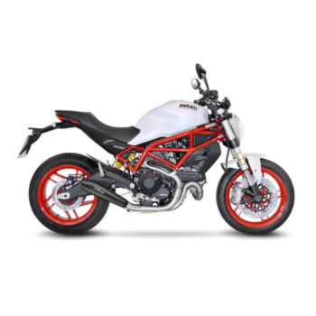 LeoVince GP Style SS Black Edition Slip On Exhaust for Ducati Monster 797