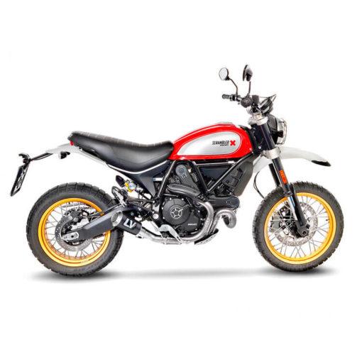LeoVince LV 10 Carbon Fiber Slip On Exhaust for Ducati Scrambler 800 Desert Sled