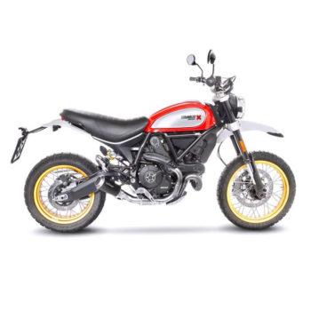 LeoVince LV 10 SS Black Edition Slip On Exhaust for Ducati Scrambler 800 Desert Sled