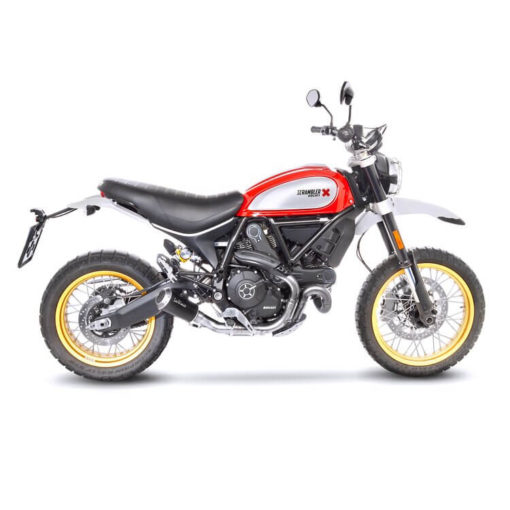 LeoVince LV 10 SS Black Edition Slip On Exhaust for Ducati Scrambler 800 Desert Sled
