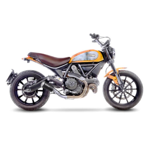 LeoVince LV 10 SS Black Edition Slip On Exhaust for Ducati Scrambler 800 Icon Classic