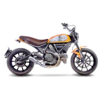 LeoVince LV 10 SS Slip On Exhaust for Ducati Scrambler 800 Classic Cafe Racer Full Throttle Icon