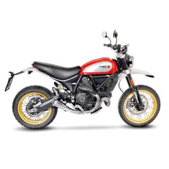 LeoVince LV 10 SS Slip On Exhaust for Ducati Scrambler 800 Desert Sled