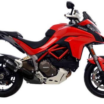 LeoVince LV Pro Carbon Fiber Slip On Exhaust for Ducati Multistrada 1200 S