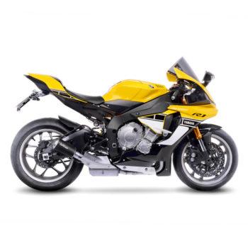 Leovince LV 10 Black Edition SS Slip On Exhaust for Yamaha YZF R1M 5
