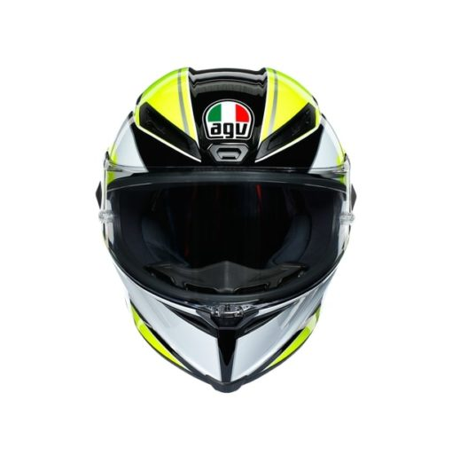 AGV CORSA R E2205 Multi SuperSport Gloss Black White Lime Full Face Helmet 2