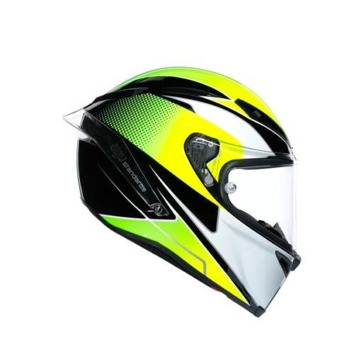AGV CORSA R E2205 Multi SuperSport Gloss Black White Lime Full Face Helmet 3